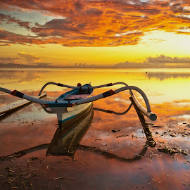 reflection at karang beach by Mekodakan Dek - Landscapes Sunsets & Sunrises