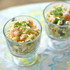 Shrimp and Feta Orzo