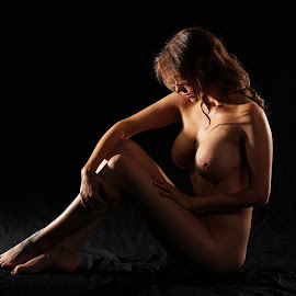Dark by Mark Buck - Nudes & Boudoir Artistic Nude ( studio, nude, breasts, dark, brunette )