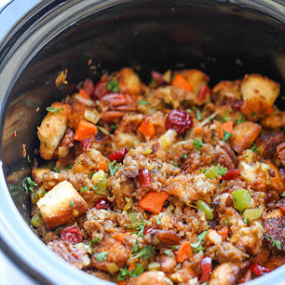 Slow Cooker Cranberry Pecan Stuffing