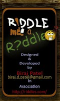 Screenshot of Riddle Me a Riddle