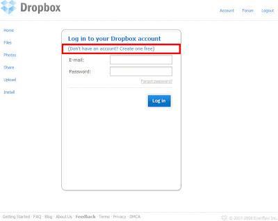 Dropbox註冊篇-01.免費註冊