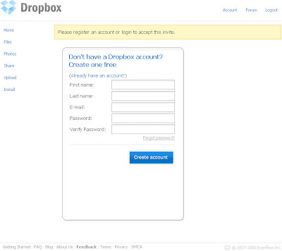 Dropbox邀請篇-02.註冊