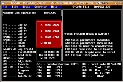 cncpro main screen