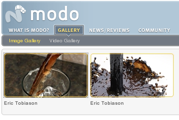Blender Fluid simulation at Modo Image Gallery .