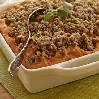 Easy Sweet Potato Casserole with Brown Sugar and Pecan Topping