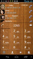 Screenshot of RocketDial Wood Theme