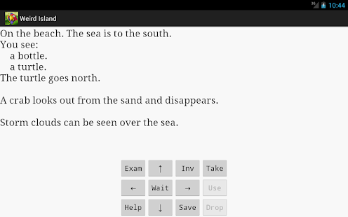 Weird Island text adventure- screenshot
