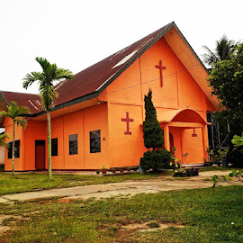 Orange Crurch by Ophe Blacks - Buildings & Architecture Places of Worship ( church, place of worship, buildings, architecture )