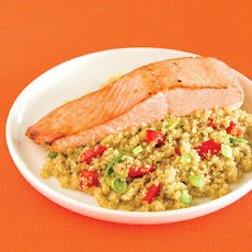 Miso Maple Salmon with Quinoa Pilaf