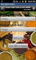 Screenshot of Indian Spices Names