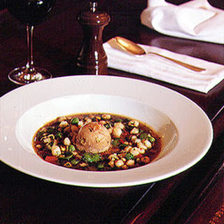 Hudson Valley Foie Gras and Roasted Corn Soup
