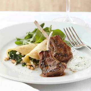 Lamb Loin Chops With Greek Salad And Yogurt-Lemon Sauce Recipes ...
