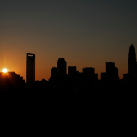 A fourth sunset by Loren Bates - City,  Street & Park  Skylines ( skyline, skyscraper, fourth of july, charlotte, city )