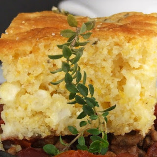 Brown Butter Cornbread w/ Farmer Cheese & Thyme