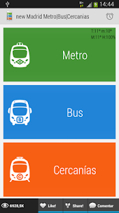 App Madrid Metro|Bus|Cercanias apk for kindle fire