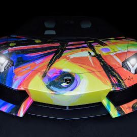Lamborghini Aventador Canvas by Jesse Zender - Transportation Automobiles ( supercar, aventador, fast, exotic, lamborghini )