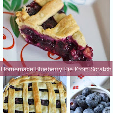 Ingredients to Make Homemade Blueberry Pie From Scratch