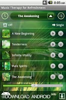 Screenshot of Music Therapy for Refreshment