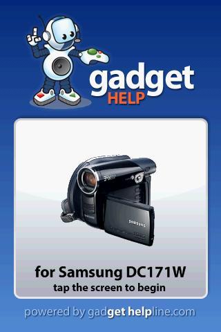 Samsung DVD DC171W Gadget Help