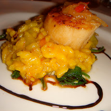 Australian Champagne and Scallop Risotto