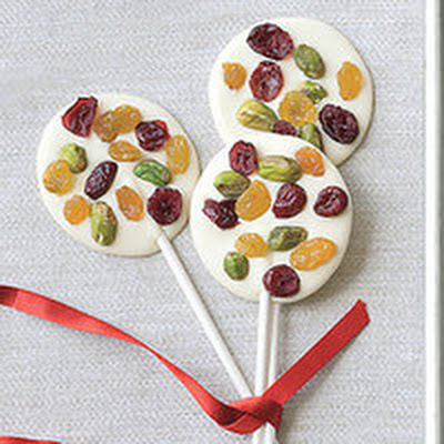 Jeweled White Chocolate Lollies
