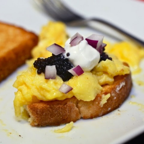 Creamy Scrambled Eggs with Caviar