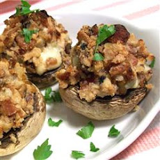 Blue Bacon Stuffed Mushrooms
