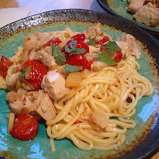 Linguine With Chicken, Garlic and Basil
