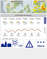 Screenshot of DMI Weather