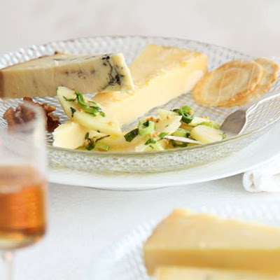 Cheese With Pickled Pear Salad