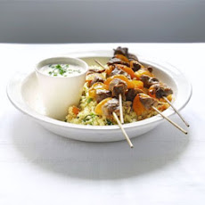 Lamb Brochettes With Apricot & Pine Nut Couscous