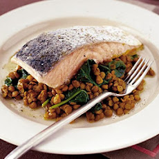 Spicy Salmon & Lentils