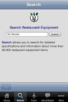 Screenshot of Restaurant Equipment