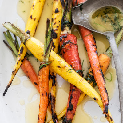 Grilled Carrots Recipe with Honey and Dill