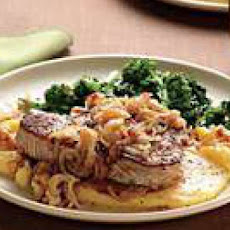 Sicilian-Style Tuna Steaks with Polenta and Broccoli Rabe