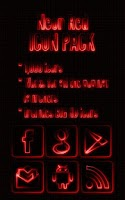 Screenshot of Neon Red - Icon Pack