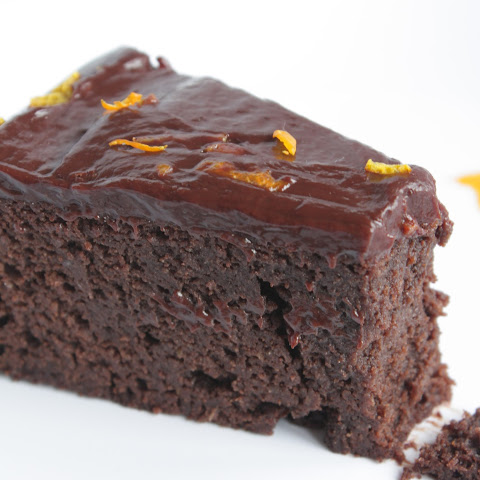 Chocolate Orange Garbanzo Bean Cake (Gluten Free)