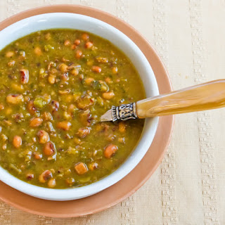 Hopping John Soup (Black-eyed Pea, Ham, and Collard Green Soup)