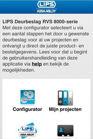 【免費生產應用App】LIPS Deurbeslagconfigurator-APP點子