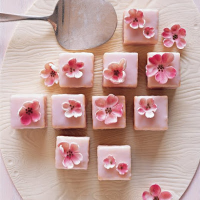 Spring Shower Almond Petits Fours