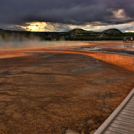 Midway Geyser Basin by Roxana McRoberts - Landscapes Travel