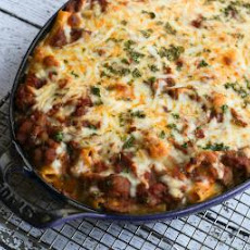 Meaty Ziti Bake with Ground Beef and Italian Sausage