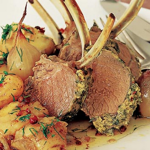 Mustard And Rosemary-crusted Rack Of Lamb