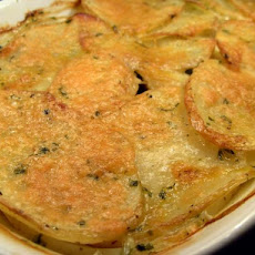 Potato Gratin With Broth and Parmesan