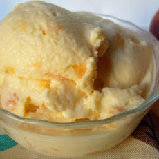Homemade Peaches 'n' Cream Ice Cream