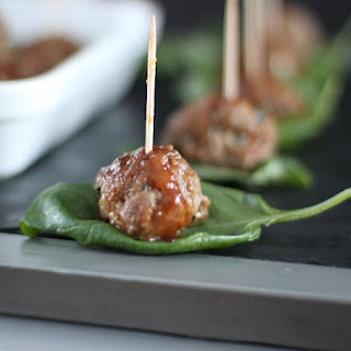 Hoisin-Momo Glazed Thai Meatballs
