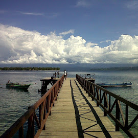 Kwawi Boat Dock by Agoes Permana - Landscapes Cloud Formations