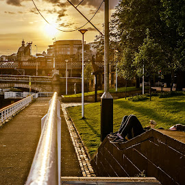 Sunset in Galgow by Haddouchi Tarik - City,  Street & Park  City Parks ( scotland, uk, sunset, glasgow, photography, colorful, mood factory, vibrant, happiness, January, moods, emotions, inspiration )