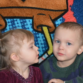little sister looking to big brother by Danielle Crothers-Geeting - Babies & Children Toddlers